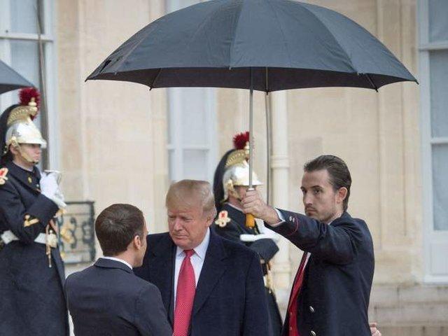 ترامپ با مکرون دوست شد!