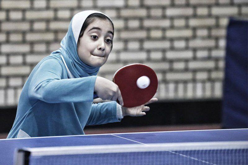خبرنگاران همدان میزبان تنیس روی میز هوپس دختران کشور شد