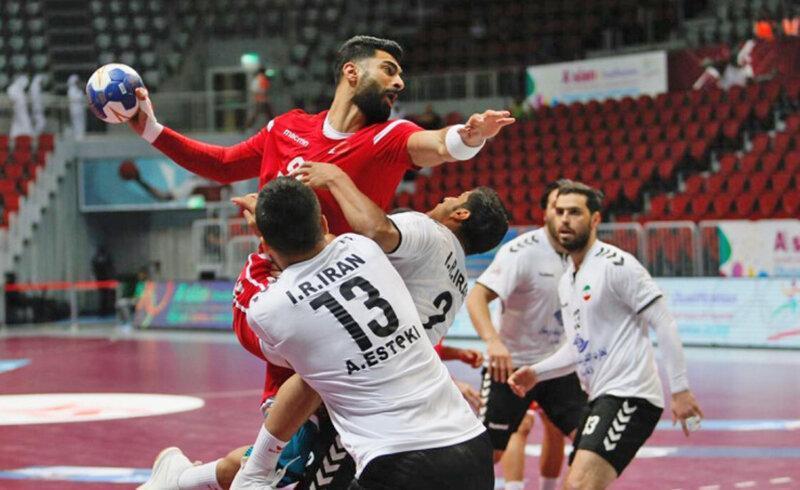 هندبال قهرمانی آسیا و انتخابی المپیک ، شکست نزدیک برابر بحرین