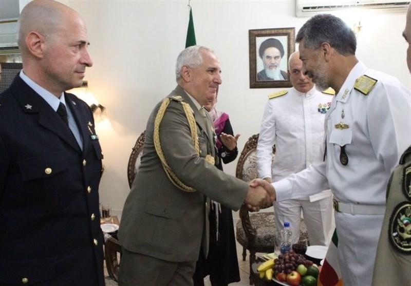 ملاقات هیئت نظامی کشور ایتالیا با فرمانده نیروی دریایی ارتش