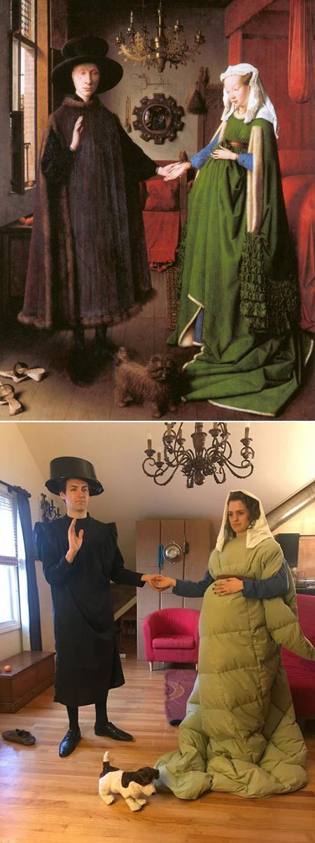 تفریح دوران قرنطینه: بازسازی آثار کلاسیک هنری با وسایل موجود در خانه!