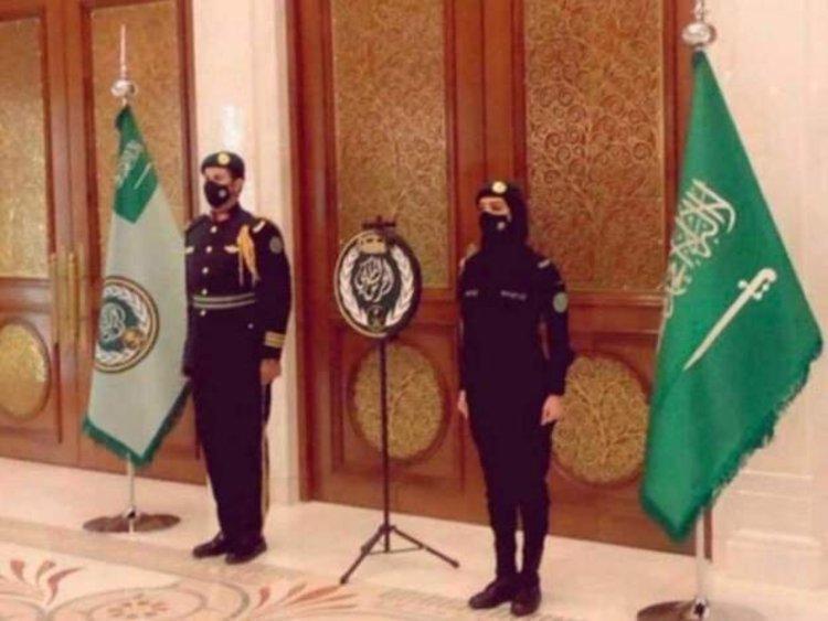تصویر سرباز زن عضو گارد سلطنتی سعودی ترند شد