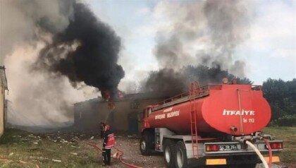 انفجار در کارخانه فراوری وسایل آتش بازی در ترکیه