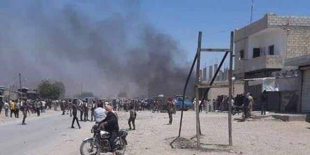 انفجار خودروی بمب گذاری شده در راس العین سوریه