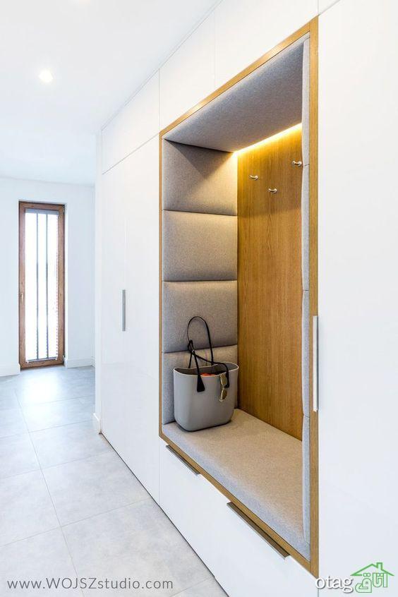 مدل کمد دیواری و شلف در اتاق نشیمن، آشپزخانه و اتاق خواب